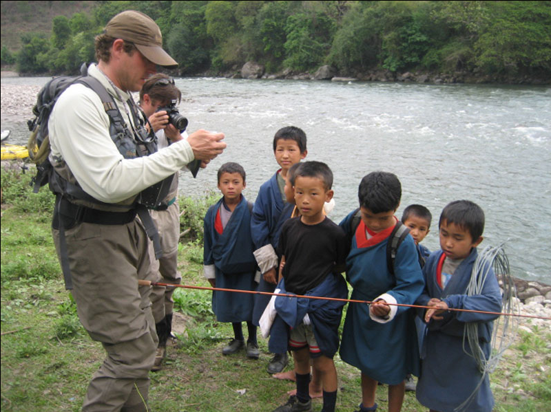 teaching children in Bhutan
