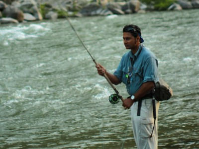 Expert on fishing for mahseer