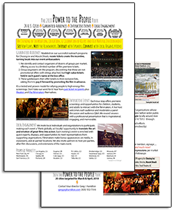 20 city film tour with guaranteed audiences